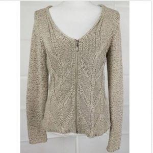 Austin Reed Gray zipper cardigan sweater Medium